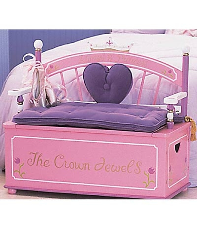 Princess Toy Box Bench