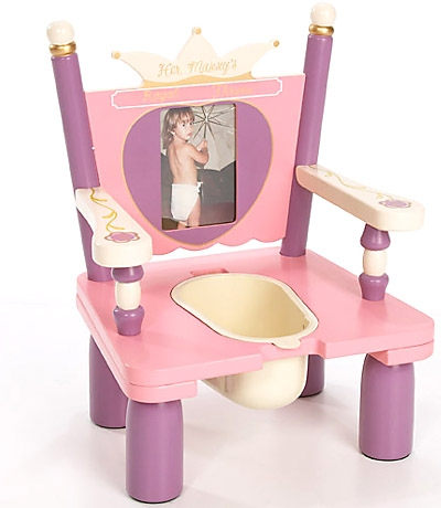 Levels of Discovery Princess Wooden Potty Training Chair