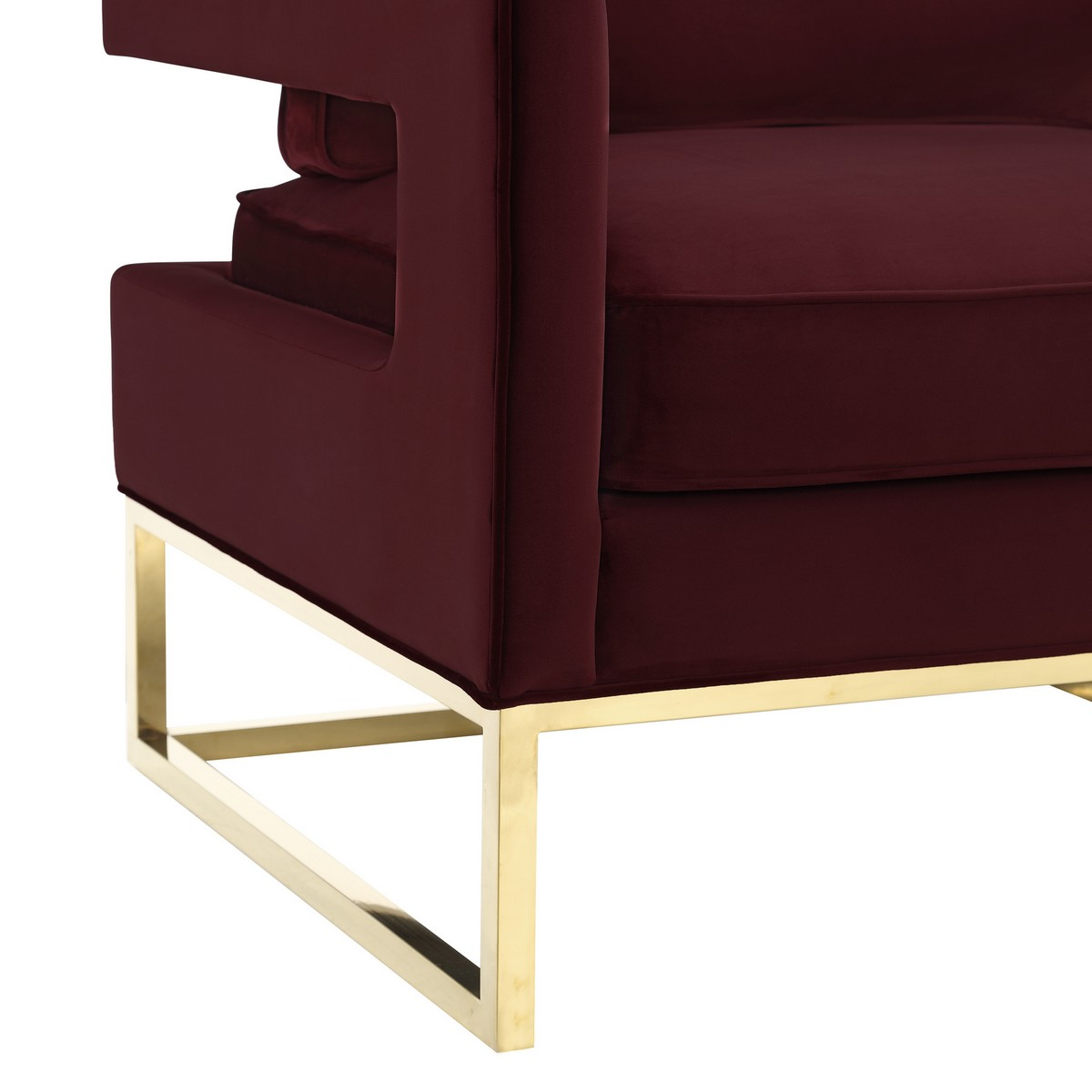 TOV Furniture Avery Maroon Velvet Chair