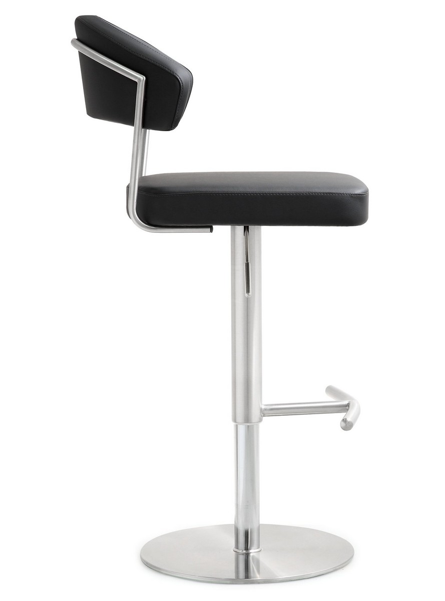 TOV Furniture Cosmo Black Stainless Steel Barstool