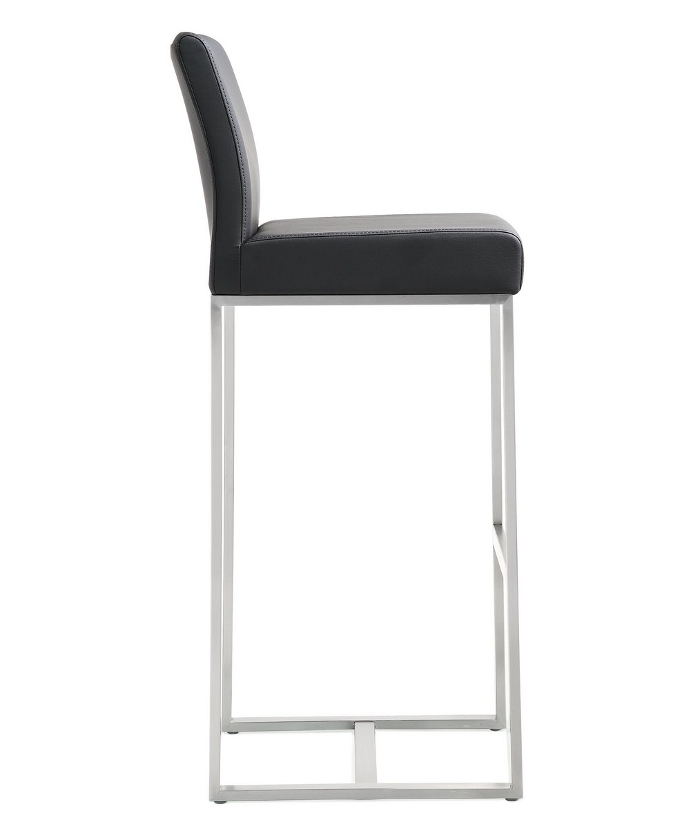 TOV Furniture Denmark Black Stainless Steel Barstool (Set of 2)