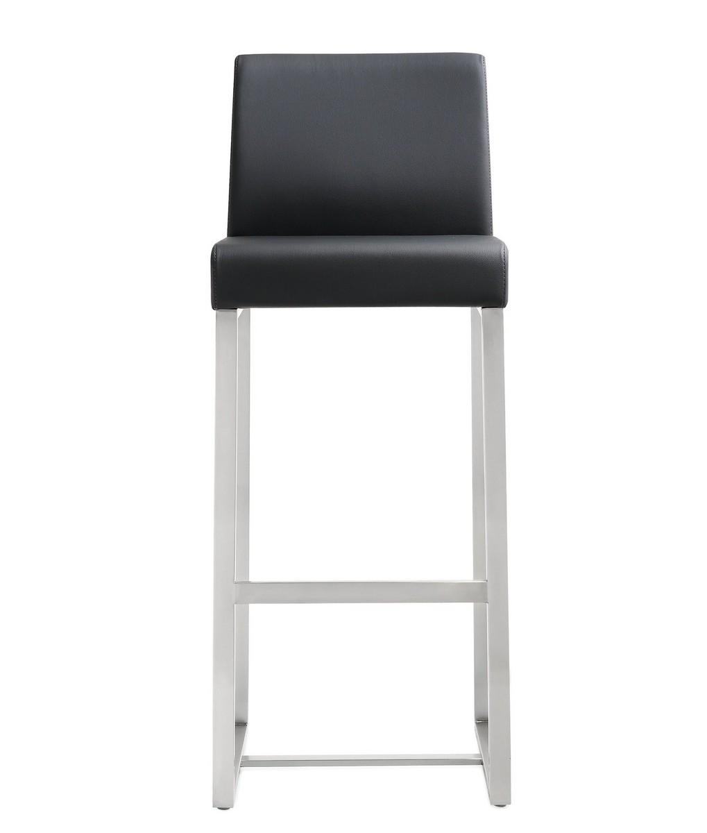 TOV Furniture Denmark Black Stainless Steel Barstool (Set of 2)