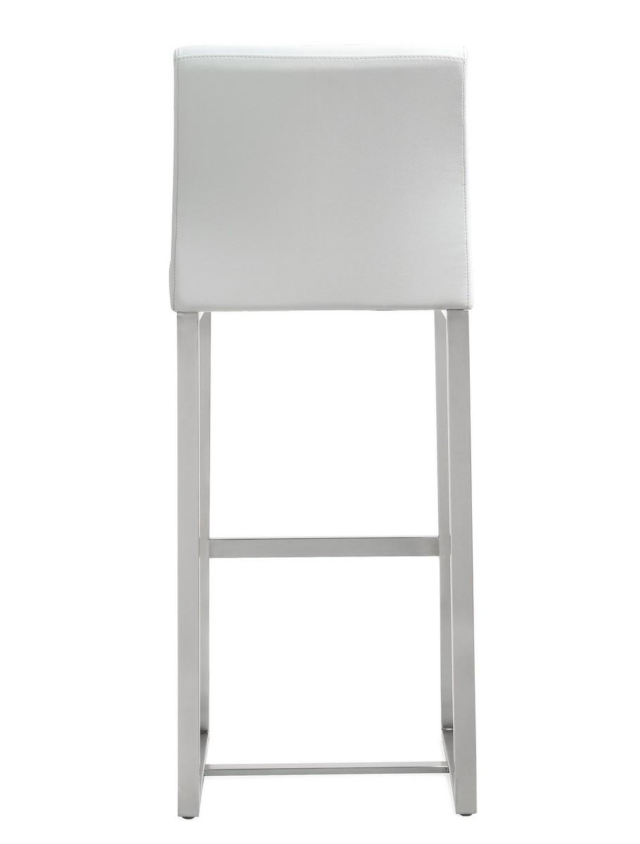 TOV Furniture Denmark White Stainless Steel Barstool (Set of 2)