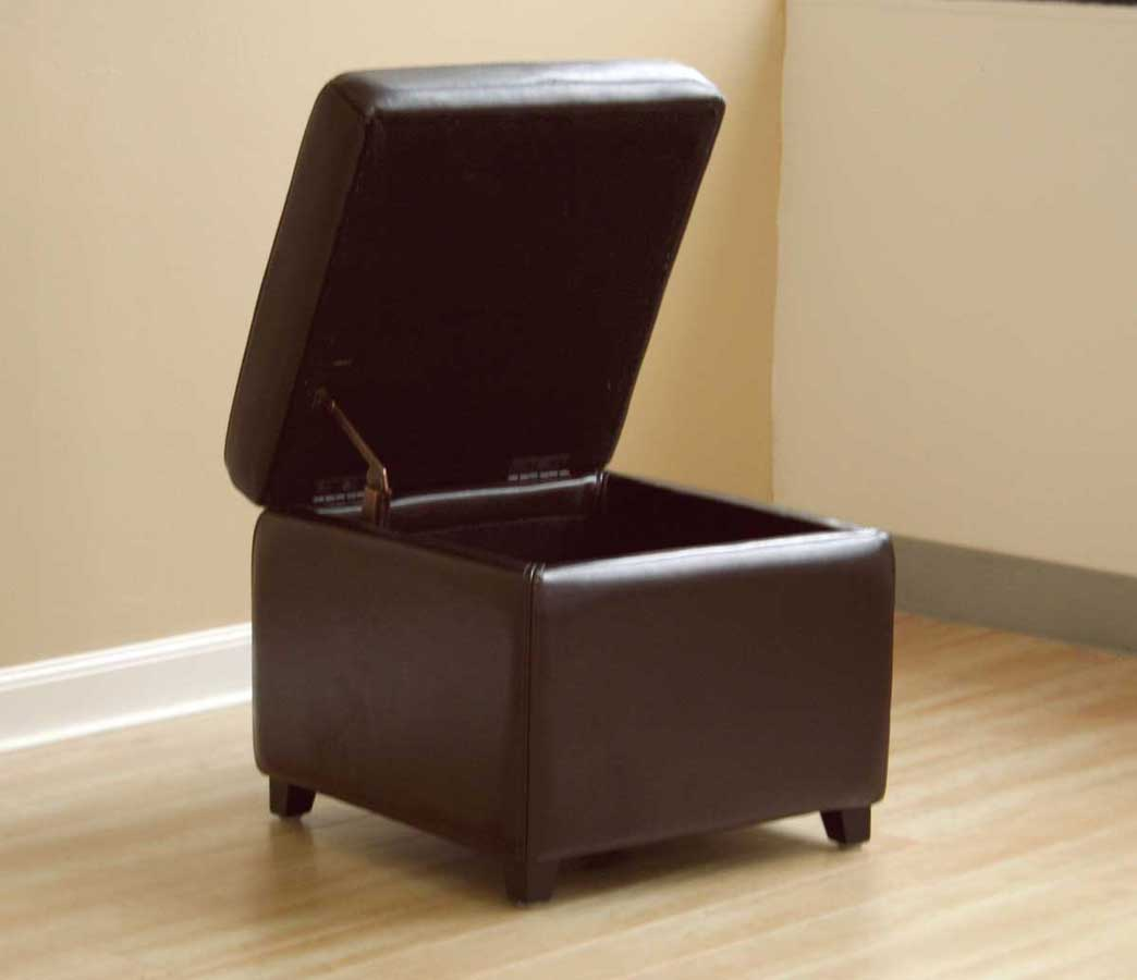 Wholesale Interiors Y-162 Leather Ottoman