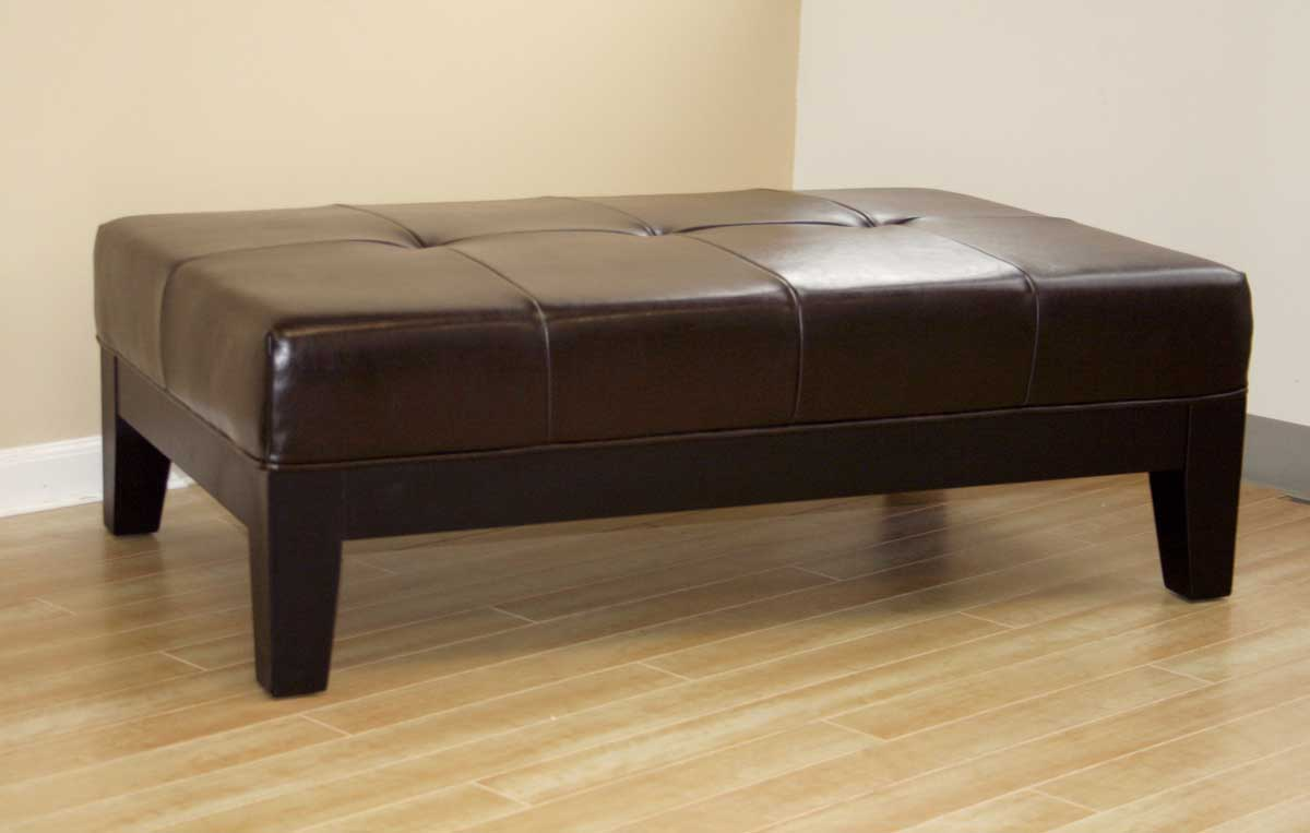 Wholesale Interiors Y-193 Leather Ottoman